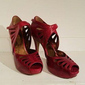 Jessica Simpson peep toe high heel